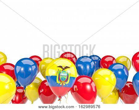 Flag Of Ecuador With Balloons
