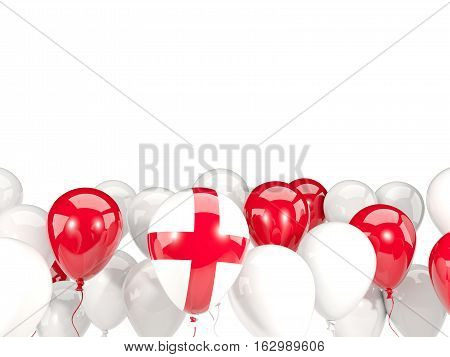 Flag Of England With Balloons