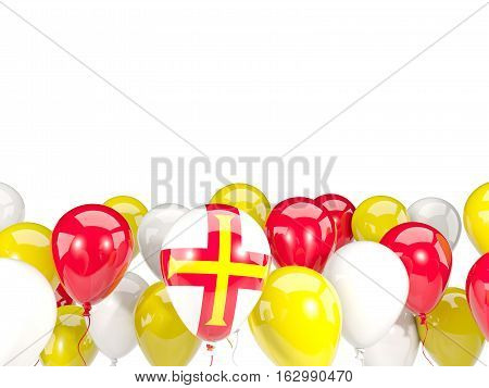 Flag Of Guernsey With Balloons