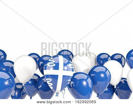 Flag Of Martinique With Balloons