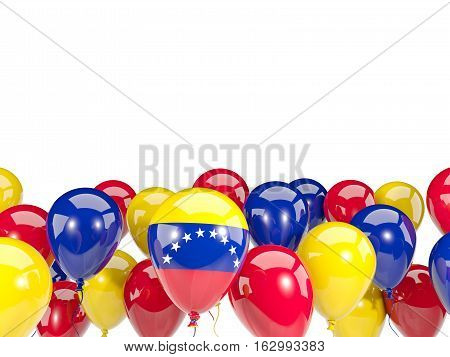 Flag Of Venezuela With Balloons