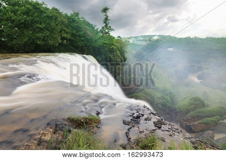 Majestic landscape of Elephant waterfall in summer at Lam Dong Province Vietnam