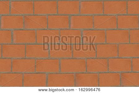 pattern smooth red brick wall for design