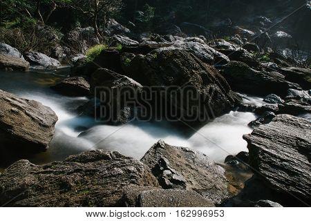 Khlong Lan Waterfall beautiful in Kamphaeng Phet province Thailand.