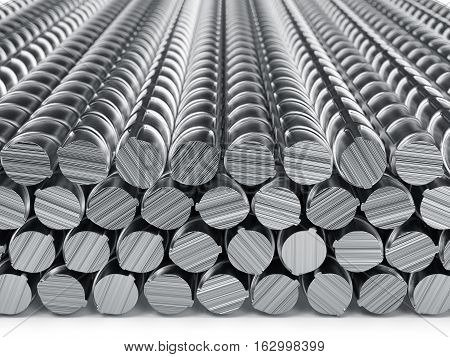 Reinforcement Bars Stack Isolated