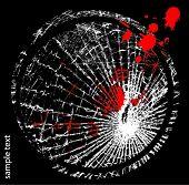 Vector illustration of broken glass poster