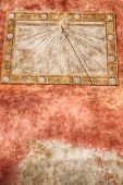 in italy sundial and gnomon antique historical medieval decoration wall poster