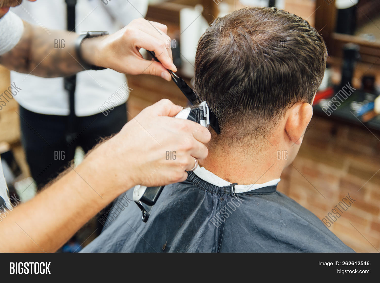 Barber Cutting Hair Image & Photo (Free Trial)  Bigstock