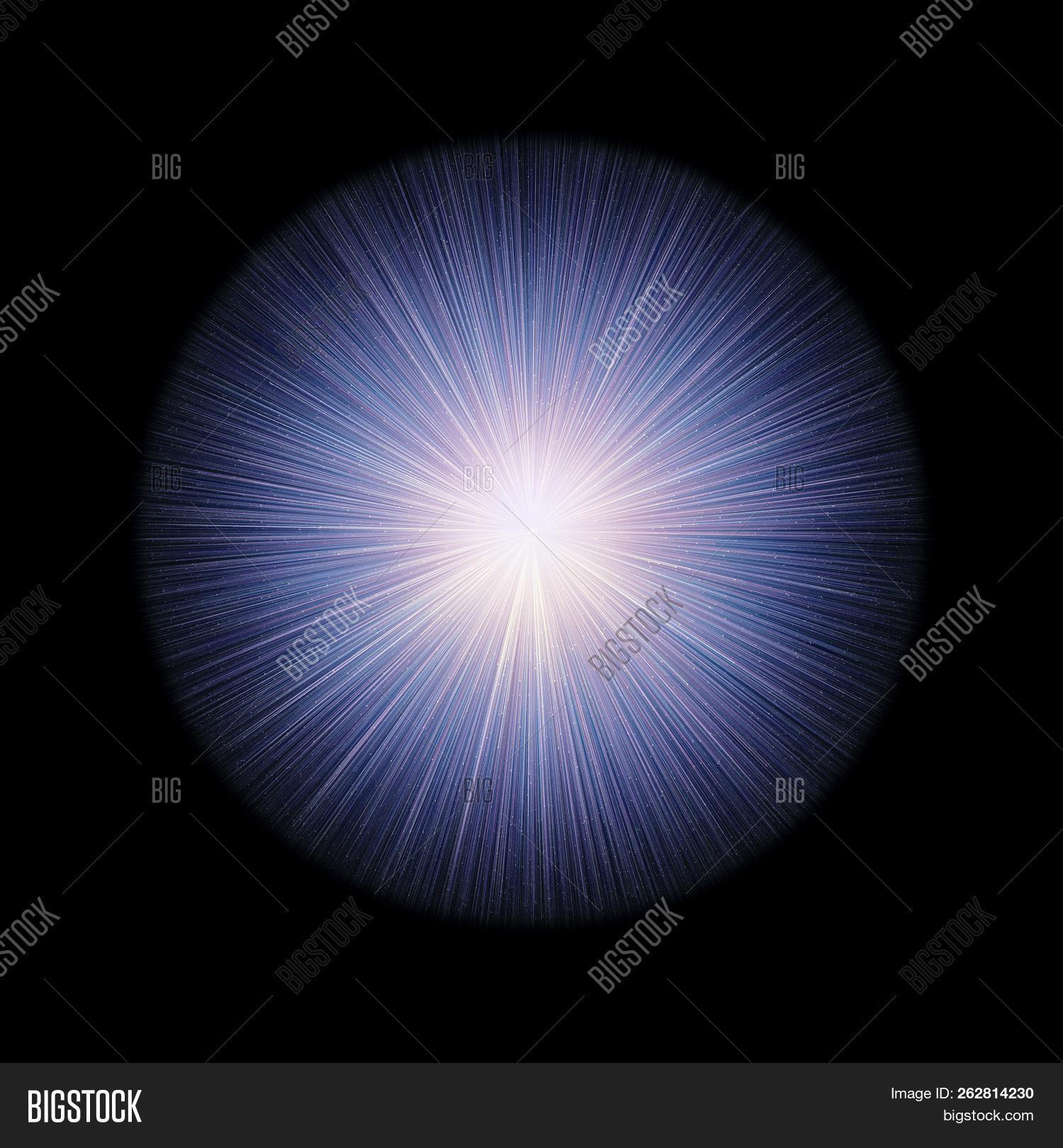 Glowing Orb Rays Light Image Photo