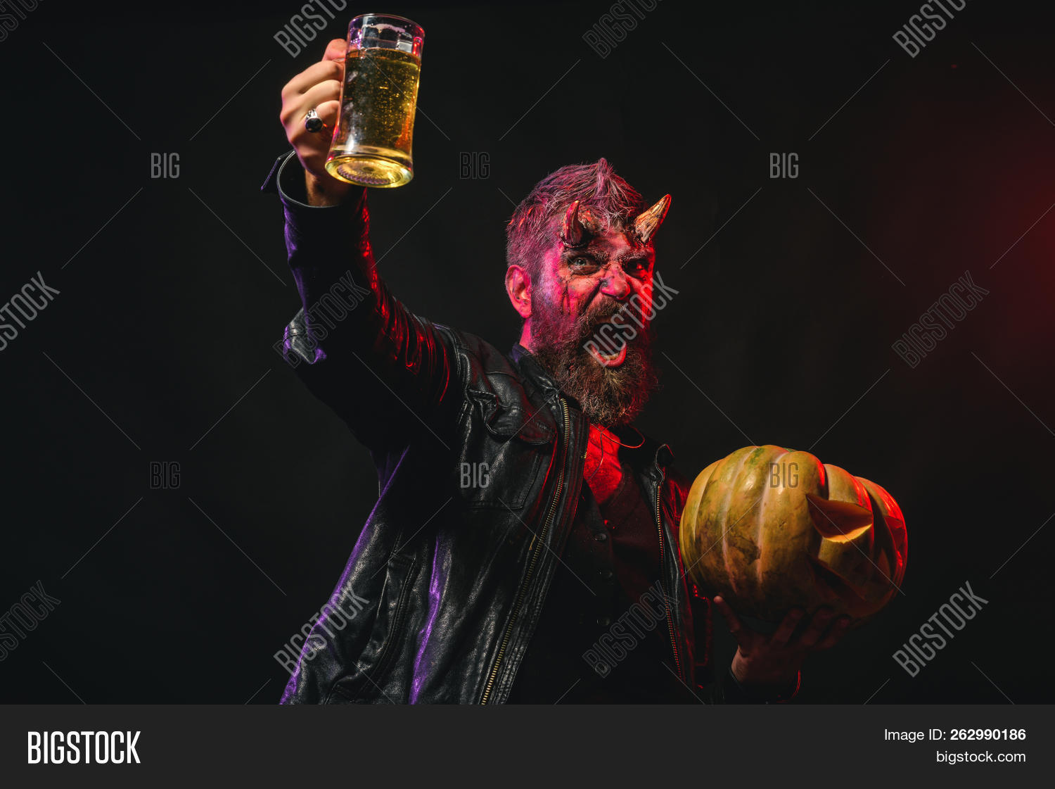 Halloween Maan.Halloween Man Satan Image Photo Free Trial Bigstock