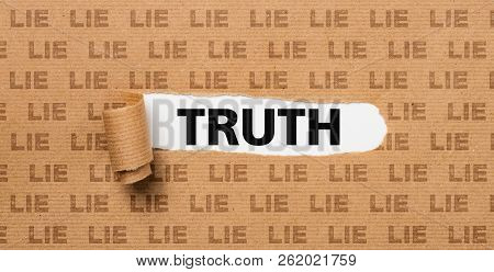 A Brown Torn Paper - Truth Or Lie