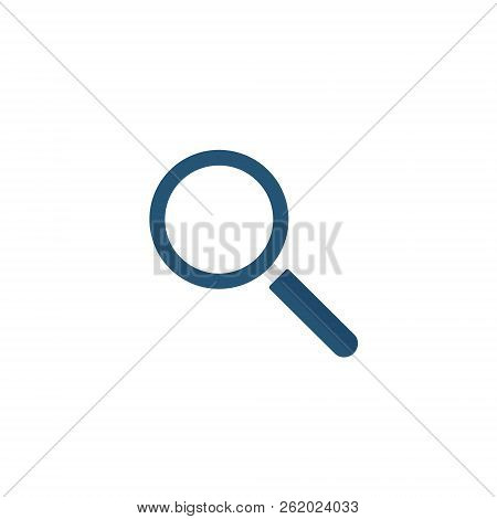 Magnifying Glass Icon, Vector Magnifier Or Loupe Sign.