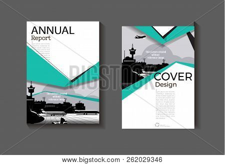 Layout Green Abstract Background Modern Cover Design Modern Book Cover Brochure Cover  Template,annu