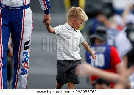 September 30, 2018 - Concord, North Carolina, USA: Clint Bowyer (14) reacts to the fans as he gets ready to see the Bank of America ROVAL 400 at Charlotte Motor Speedway in Concord, North Carolina.