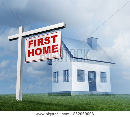 First Home Conceptual Image Of Buying A Family House As A Real Estate Investing Concept For Buying A