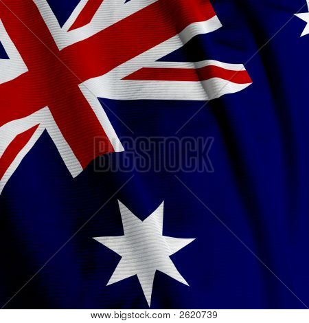 Australian Flag Closeup