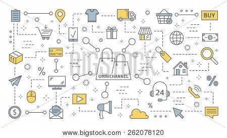 Omnichannel Concept. Many Communication Channels With Customer