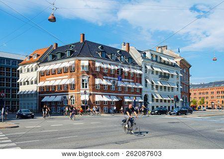 Copenhagen, Denmark - July 16, 2018. Beautiful Architecture Of Copenhagen. Architecture. City Landsc