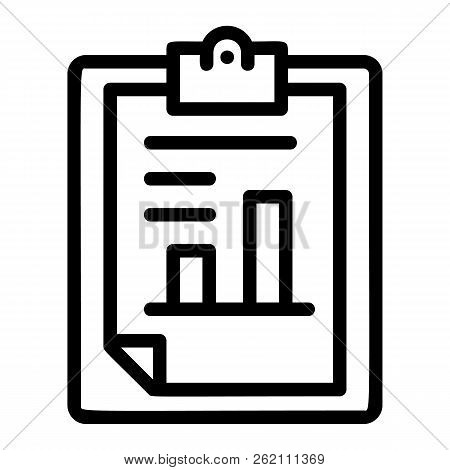 Finance Paper Graph Icon. Outline Finance Paper Graph Vector Icon For Web Design Isolated On White B