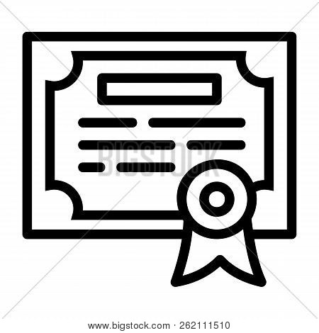 Finance Diploma Icon. Outline Finance Diploma Vector Icon For Web Design Isolated On White Backgroun