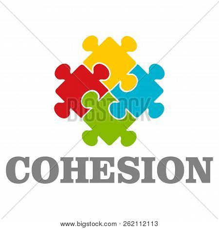 People cohesion logo. Flat illustration of people cohesion vector logo for web design poster