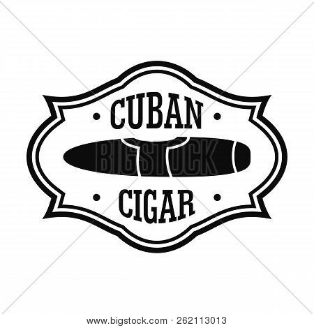 Cuban Nicotine Cigar Logo. Simple Illustration Of Cuban Nicotine Cigar Vector Logo For Web Design Is