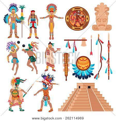 Maya Civilization Set Vector & Photo (Free Trial) | Bigstock