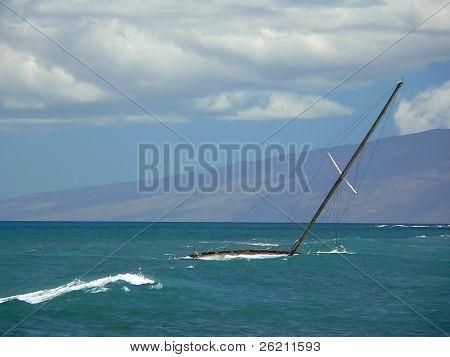 Sunken Sailboat