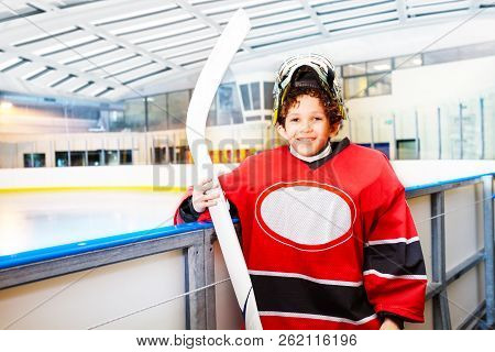 Young Hockey Player Is Ready To Hit The Ice