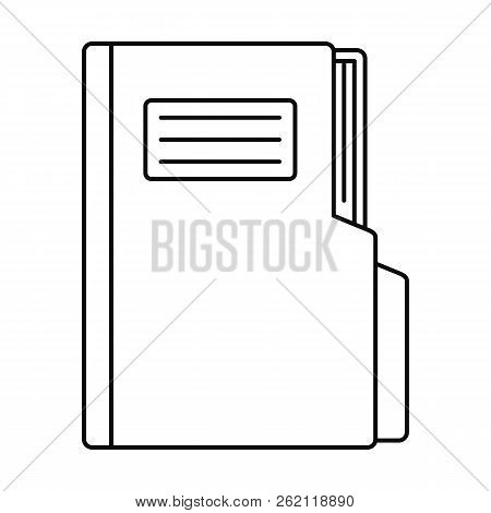 Folder Icon. Outline Illustration Of Folder Vector Icon For Web Design Isolated On White Background
