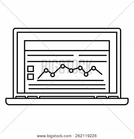 Laptop Finance Icon. Outline Illustration Of Laptop Finance Vector Icon For Web Design Isolated On W