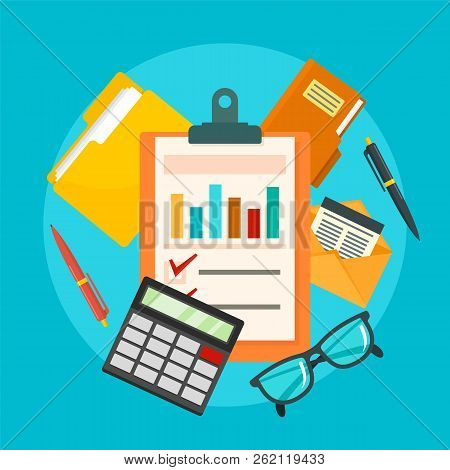 Accounting Concept Background. Flat Illustration Of Accounting Vector Concept Background For Web Des