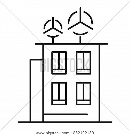 Intelligent Building Icon. Outline Illustration Of Intelligent Building Vector Icon For Web Design I