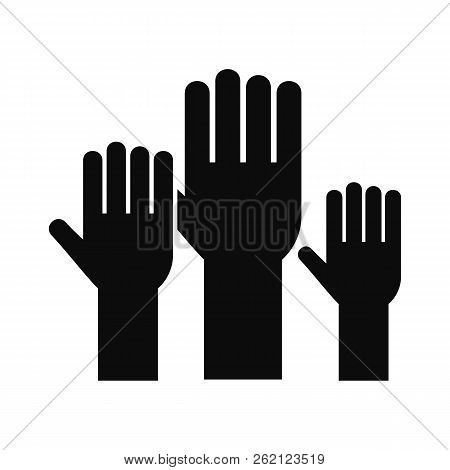 Vote Hands Icon. Simple Illustration Of Vote Hands Vector Icon For Web Design Isolated On White Back