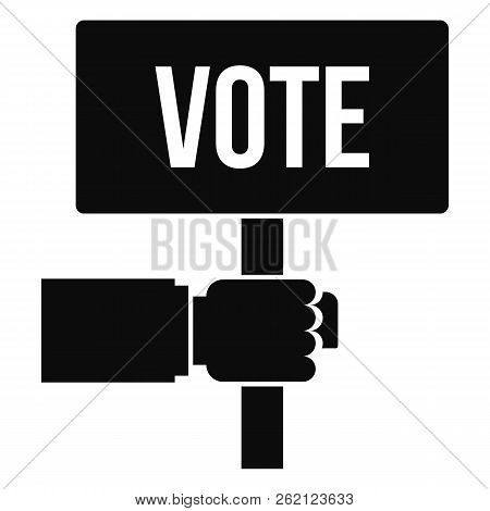Vote Candidate Banner Icon. Simple Illustration Of Vote Candidate Banner Vector Icon For Web Design