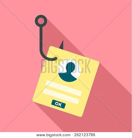 Phishing Personal Account Icon. Flat Illustration Of Phishing Personal Account Vector Icon For Web D