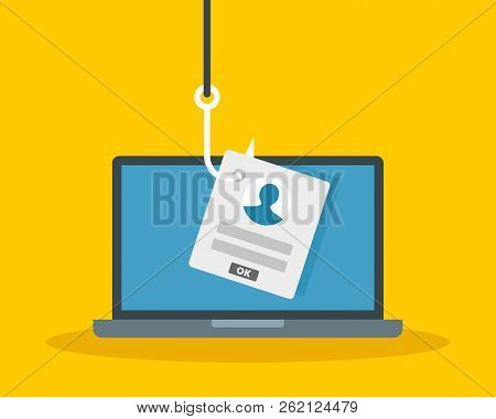 Phishing Personal Data Concept Background. Flat Illustration Of Phishing Personal Data Vector Concep