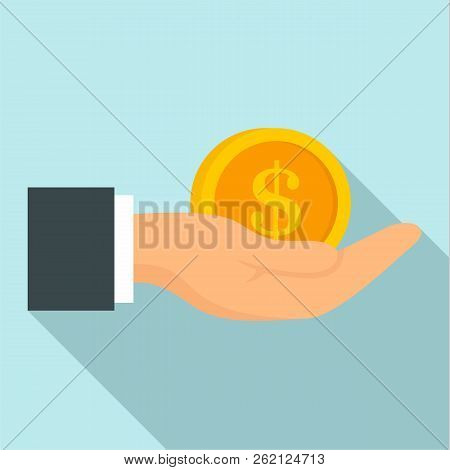 Bribery Money Coin Icon. Flat Illustration Of Bribery Money Coin Vector Icon For Web Design