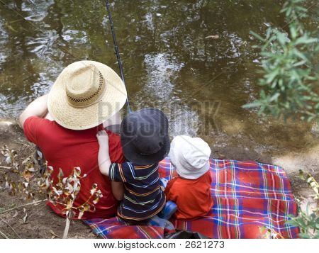 Father And Sons Fishing