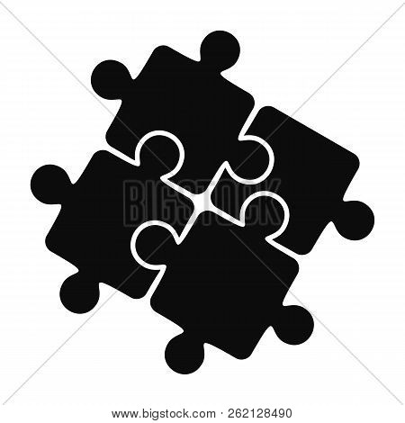 Teamwork Solution Puzzle Icon. Simple Illustration Of Teamwork Solution Puzzle Vector Icon For Web D