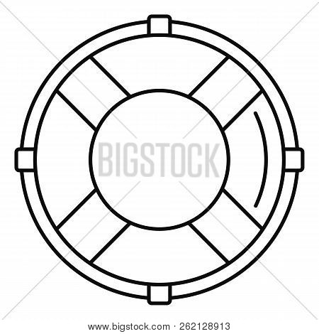 Life Buoy Solution Icon. Outline Illustration Of Life Buoy Solution Vector Icon For Web Design Isola