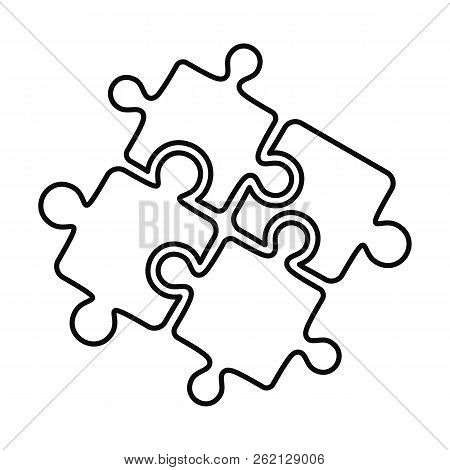 Teamwork Solution Puzzle Icon. Outline Illustration Of Teamwork Solution Puzzle Vector Icon For Web