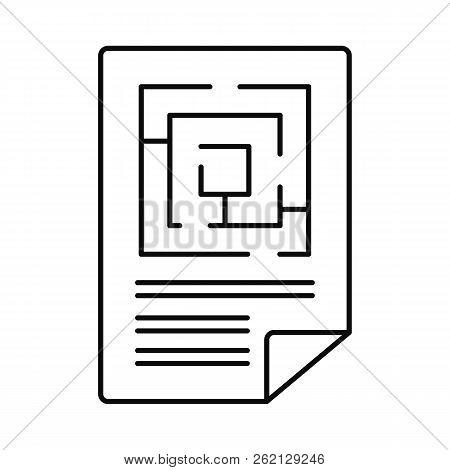 Labyrinth Solution Icon. Outline Illustration Of Labyrinth Solution Vector Icon For Web Design Isola