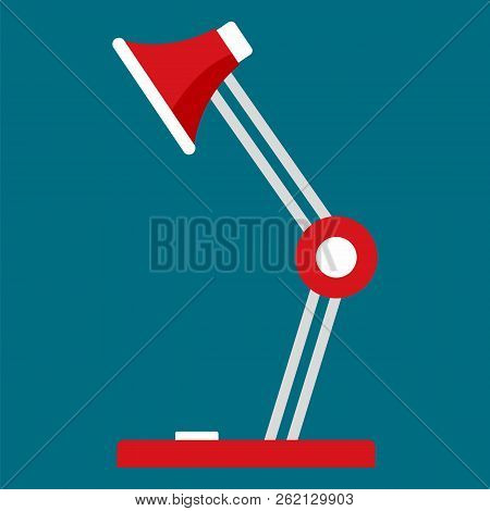 Desktop Lamp Icon. Flat Illustration Of Desktop Lamp Vector Icon For Web Design