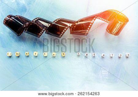 Content Creator Backdrop Concept, Celluloid Film On Paint Backdrop