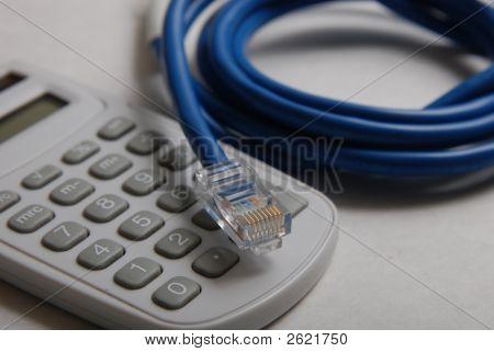 Calculator &  Cat-5 Cable