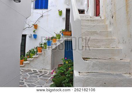 Traditional Greek Patio, Naxos Town