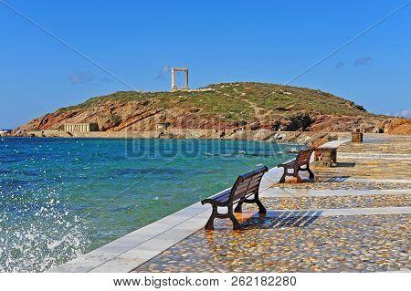 Ancient Temple Ruins, Symbol Of Naxos Island