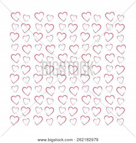 Romance Drawing Background With Line Of Pink Herts