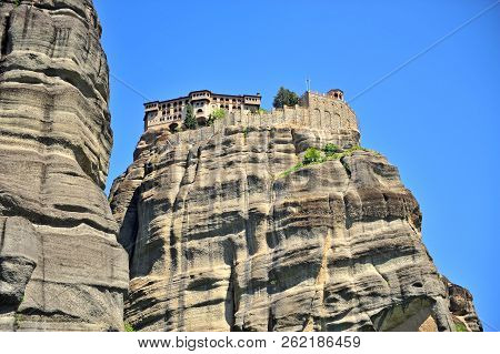 Orthodox Monastery On Natural Cliffs